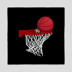 Basketball hoop and ball Queen Duvet