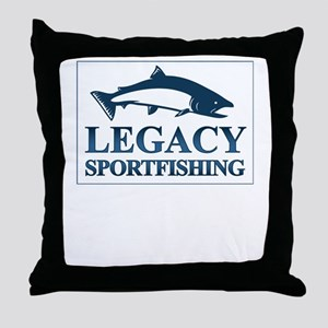 legacy sportfishing Throw Pillow
