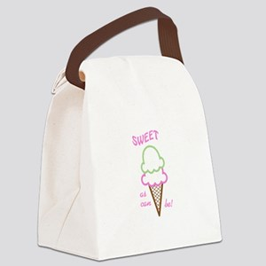 Sweet As Can Be Applique Canvas Lunch Bag