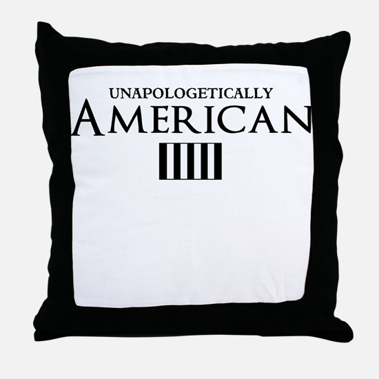 unapologetically american Throw Pillow