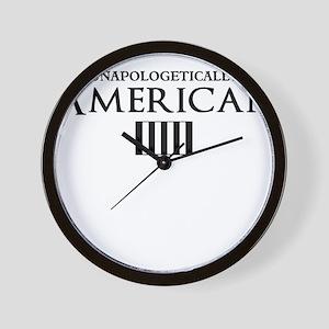unapologetically american Wall Clock