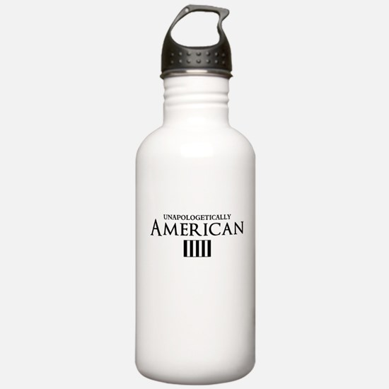 unapologetically american Water Bottle