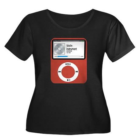 Ipad Vio Women's Plus Size Scoop Neck Dark T-Shirt