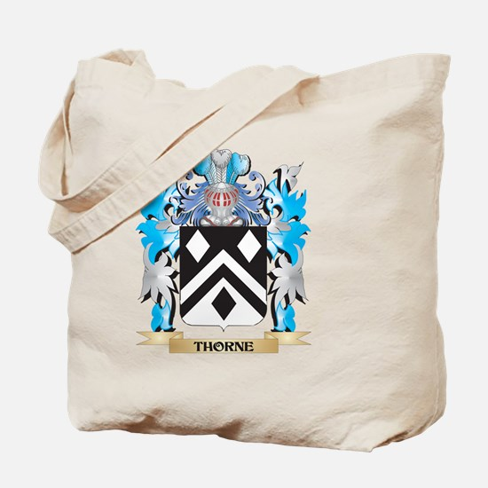 Thorne Coat of Arms - Family Crest Tote Bag