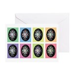 Pop Art Pysanka Greeting Card