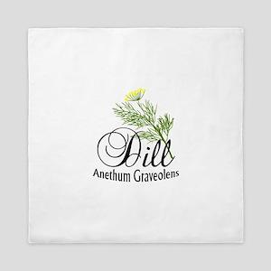 Dill Anethum Graveolens Queen Duvet