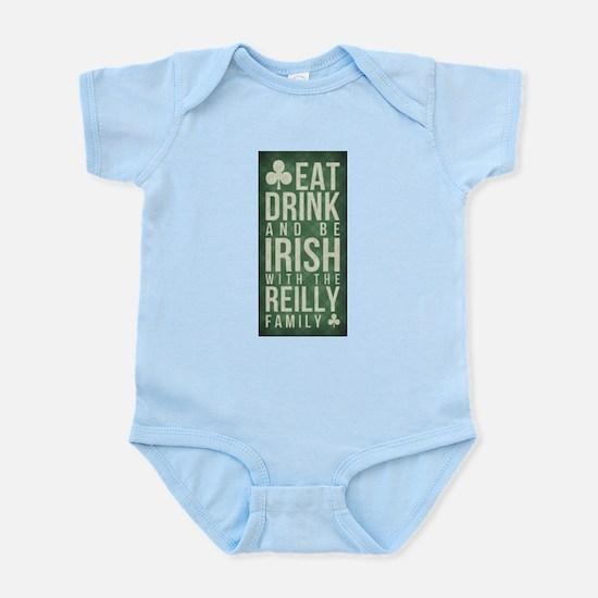 eat, drink, Irish, Reilly Body Suit