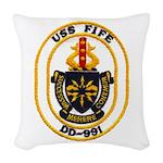 USS FIFE Woven Throw Pillow