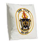 USS FIFE Burlap Throw Pillow