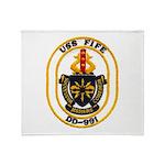 USS FIFE Throw Blanket