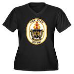 USS FIFE Women's Plus Size V-Neck Dark T-Shirt
