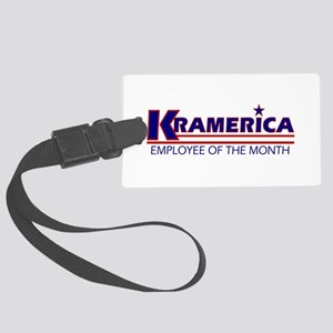 Kramerica_mug Large Luggage Tag