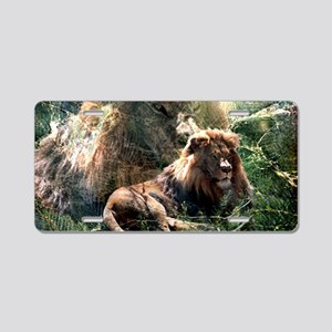 Lion Spirit Aluminum License Plate