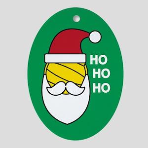 Santa Water Polo Oval Ornament
