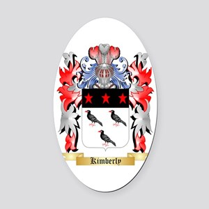 Kimberly Oval Car Magnet