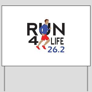 marathon runner Yard Sign