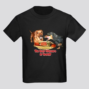 Best Wieners Dachshund Dogs Kids Dark T-Shirt
