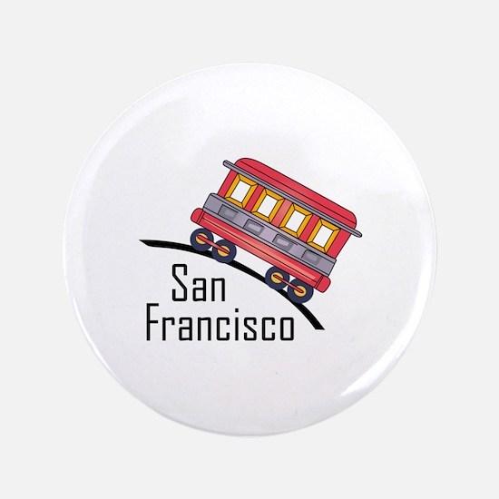 "san francisco trolley 3.5"" Button"
