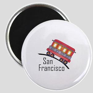 san francisco trolley Magnets