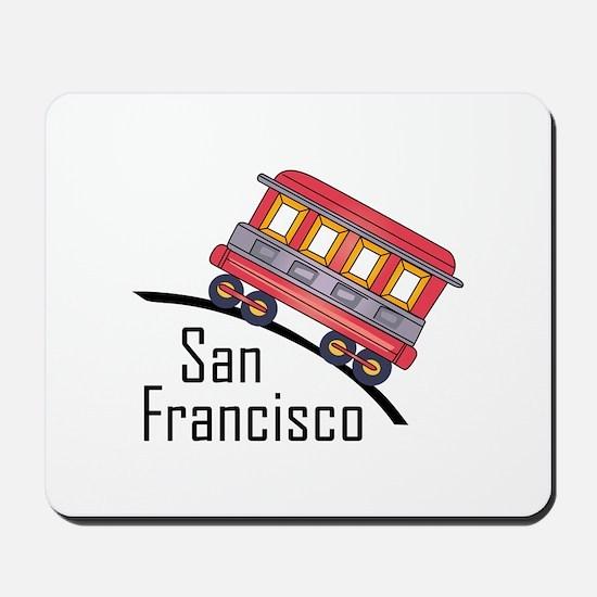 san francisco trolley Mousepad