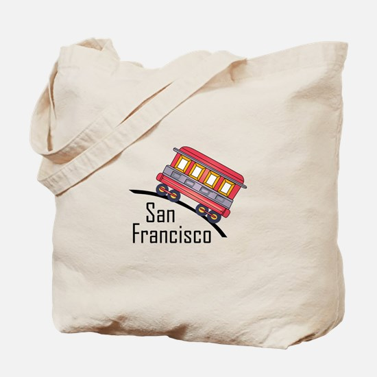 san francisco trolley Tote Bag