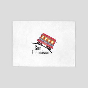 san francisco trolley 5'x7'Area Rug