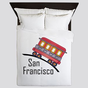 san francisco trolley Queen Duvet