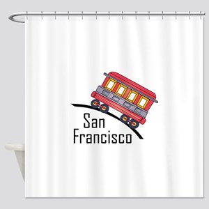 san francisco trolley Shower Curtain