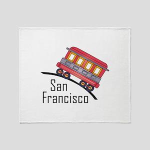san francisco trolley Throw Blanket
