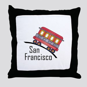 san francisco trolley Throw Pillow