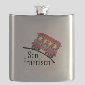 san francisco trolley Flask
