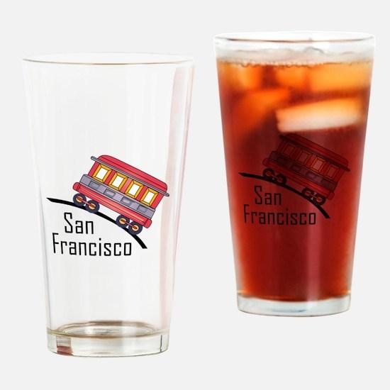 san francisco trolley Drinking Glass