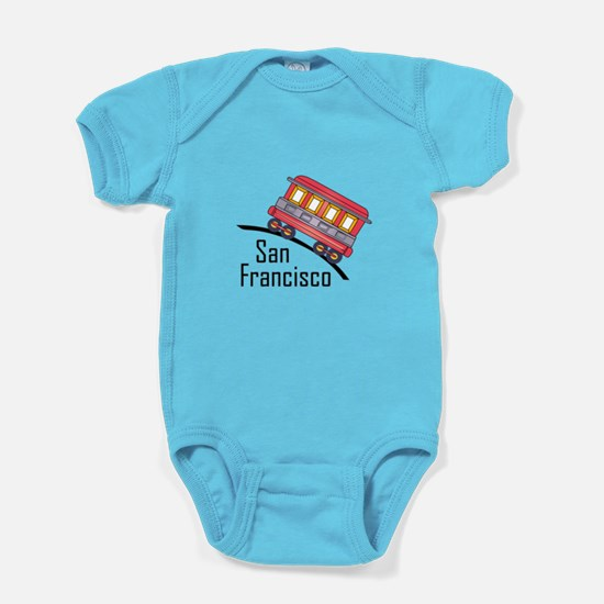 san francisco trolley Baby Bodysuit