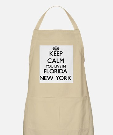 Keep calm you live in Florida New York Apron