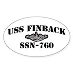 USS FINBACK Sticker (Oval)