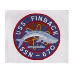 USS FINBACK Throw Blanket