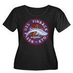 USS FINB Women's Plus Size Scoop Neck Dark T-Shirt