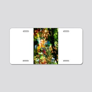 Forest Goddess 4 Aluminum License Plate
