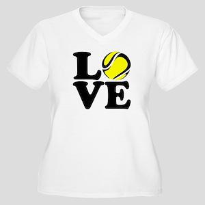 Love Tennis Women's Plus Size V-Neck T-Shirt