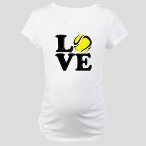 Love Tennis Maternity T-Shirt