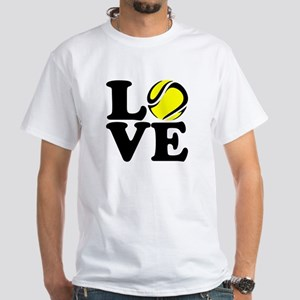 Love Tennis White T-Shirt