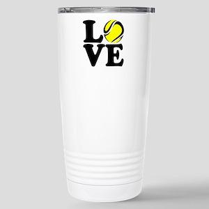 Love Tennis Stainless Steel Travel Mug
