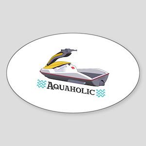 JET SKI AQUAHOLIC Sticker