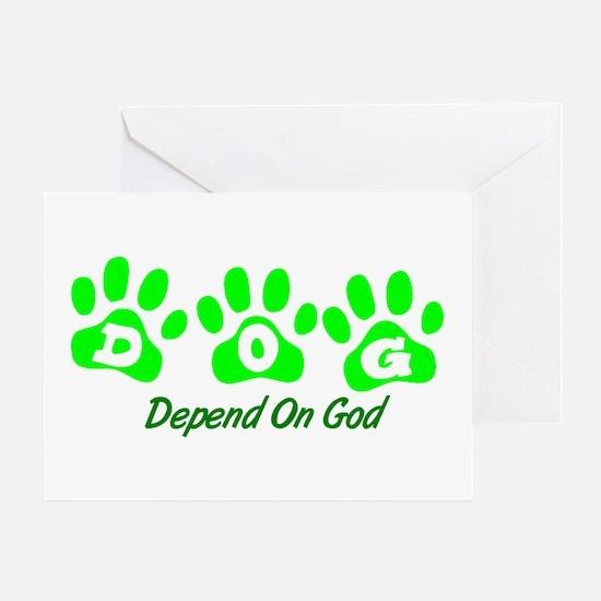 Green DOG Greeting Card