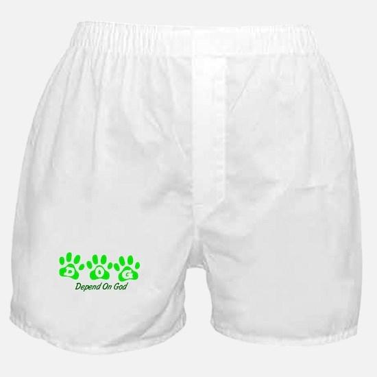 Green DOG Boxer Shorts