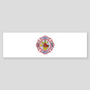 MALTESE CROSS APPLIQUE Bumper Sticker