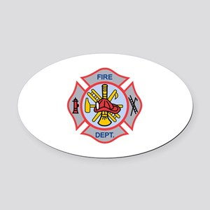 MALTESE CROSS APPLIQUE Oval Car Magnet