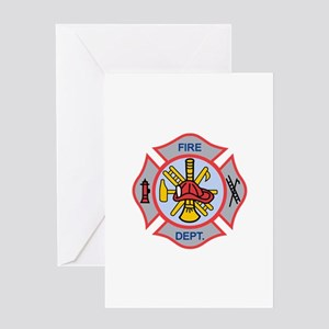 MALTESE CROSS APPLIQUE Greeting Cards