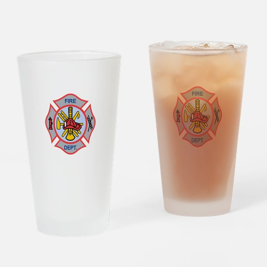 MALTESE CROSS APPLIQUE Drinking Glass