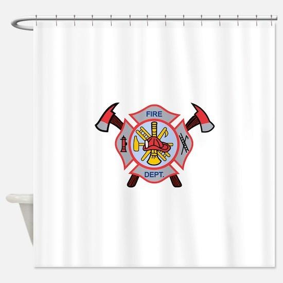 MALTESE CROSS APPLIQUE Shower Curtain